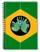 Brazilian Football Field Spiral Notebook