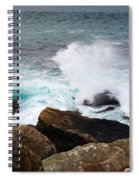 Breakers And Rocks Spiral Notebook
