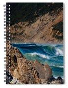 Breakers At Pt Reyes Spiral Notebook