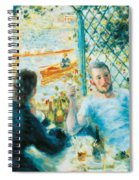 Breakfast By The River Spiral Notebook