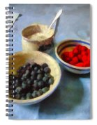Breakfast In Red White And Blue Spiral Notebook
