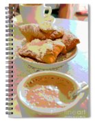 Breakfast Of Champions At Cafe Du Monde Spiral Notebook