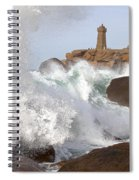 Breaking Of Waves Spiral Notebook