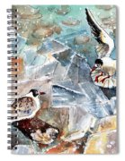 Breaking The Ice On Lake Constance Spiral Notebook