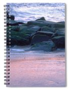 Breakwater Rocks At Sunset Beach Cape May Spiral Notebook