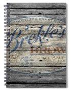 Brekles Brown Spiral Notebook