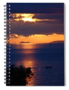 Brela Sunset Croatia Spiral Notebook