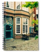 Bremen Schnoor Cafe Spiral Notebook