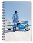Brett De Stoop And His Suzuki Gt 750 Spiral Notebook