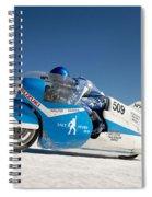 Brett De Stoop On His Suzuki Gt 750 At Speed Spiral Notebook