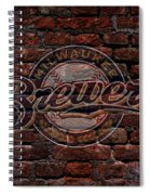 Brewers Baseball Graffiti On Brick  Spiral Notebook