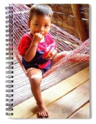 Bribri Indian Child In A Hammock Spiral Notebook