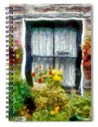 Brick And Blooms Spiral Notebook