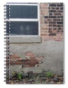 Brick Broken Plaster And Window Spiral Notebook