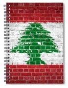 Brick Wall Lebanon Spiral Notebook