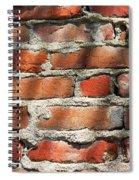 Brick Wall Shadows Spiral Notebook