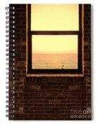 Brick Window Sea View Spiral Notebook