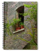 Brick With Greenery Spiral Notebook