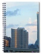 Brickell Key And Miami Skyline Spiral Notebook