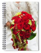 Bridal Bouquet With Red Roses Spiral Notebook