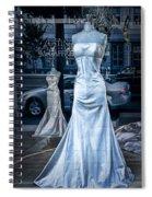 Bridal Dress Window Display In Ottawa Ontario Spiral Notebook