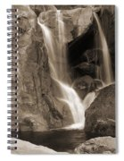 Bridalveil Falls In Yosemite Sepia Version Spiral Notebook