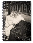 Bride And Daughter Kiss In Jackson Square New Orleans Spiral Notebook