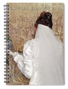 Bride At The Wall Spiral Notebook