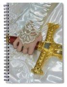Sword In Hand Spiral Notebook