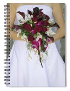 Brides Bouquet And Wedding Dress Spiral Notebook