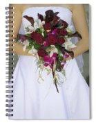 Brides Bouquet And Wedding Dress Spiral Notebook