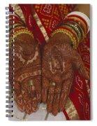 Brides Hands India Spiral Notebook