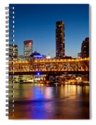 Bridge Across A River, Story Bridge Spiral Notebook