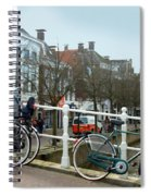 Bridge Across Canal - Amsterdam Spiral Notebook