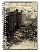Bridge Across Lotus Pond Spiral Notebook
