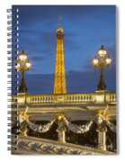 Bridge And Eiffel Spiral Notebook