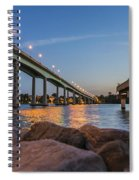 Bridge And Fishing Pier Spiral Notebook
