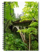 Bridge And Lush Vegetation Spiral Notebook