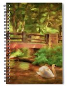 Bridge And Swan Spiral Notebook