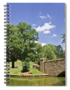 Bridge At A Park In The Summer Spiral Notebook