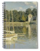 Bridge At Argenteuil Spiral Notebook