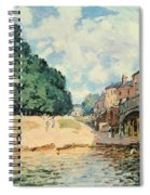 Bridge At Hampton Court Spiral Notebook