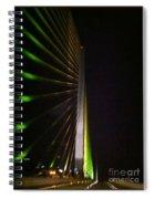 Bridge At Night Spiral Notebook