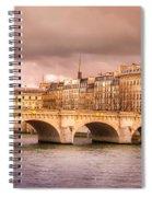 Bridge At Sunset Spiral Notebook