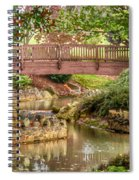 Bridge At Shelton Vineyards Spiral Notebook