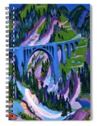 Bridge At Wiesen Spiral Notebook