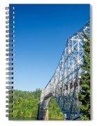 Bridge Connecting Oregon And Washington Spiral Notebook