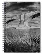 Bridge Curvature In Black And White Spiral Notebook
