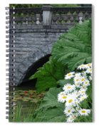 Stone Bridge Daisies Spiral Notebook