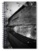 Bridge In Black And White Spiral Notebook